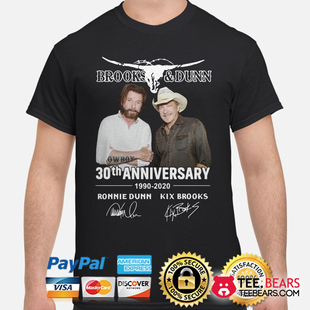 Brooks and Dunn 30th anniversary 1990 2020 shirt