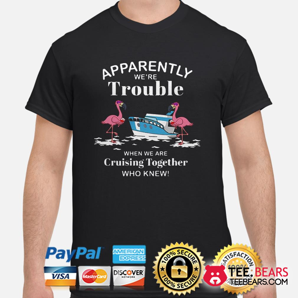 Flamingos Apparently we're trouble when we are Cruising together shirt