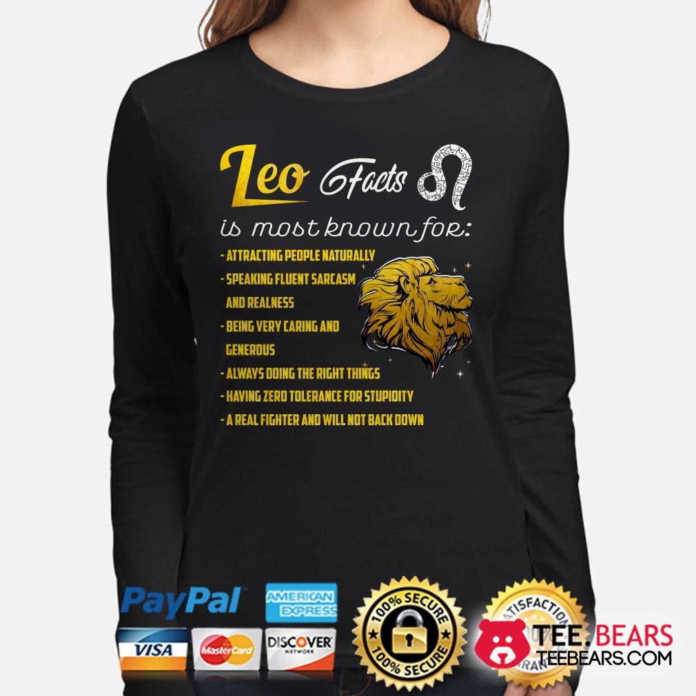 Lion Leo Facts is most known for long sleeve