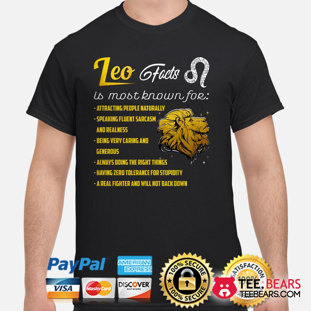 Lion Leo Facts is most known for shirt
