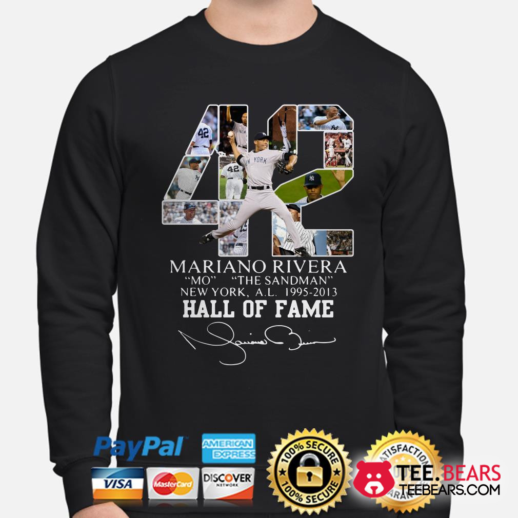 Mariano Rivera New York Yankees Hall of Fame signatures sweater