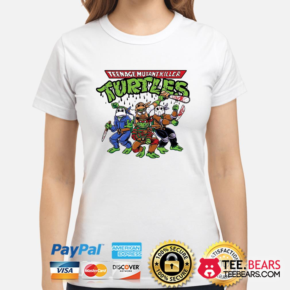 Teenage Mutant Killer Ninja Turtles Horror character ladies shirt