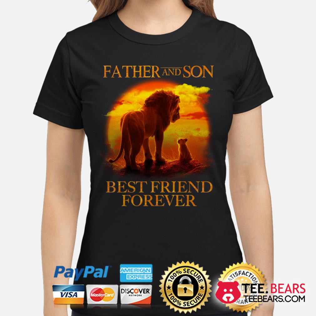 The Lion King Mufasa and Simba Father and son best friend forever ladies shirt