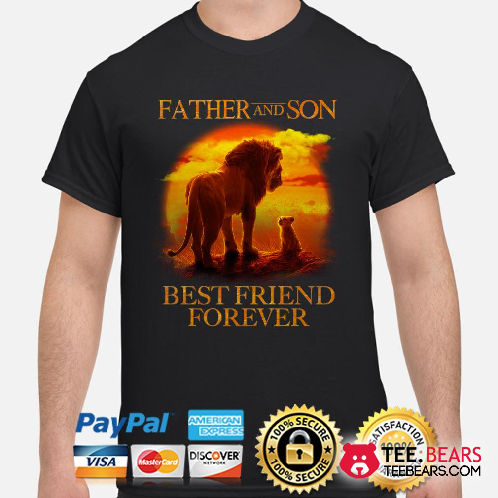 The Lion King Mufasa and Simba Father and son best friend forever shirt